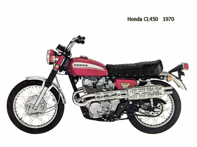 1965-1977 Honda CL450 V-Twin Service Manual